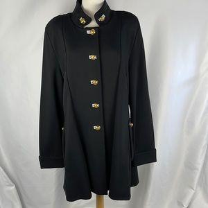 NEW Joseph Ribkoff Black 3/4 Hi Neck Jacket